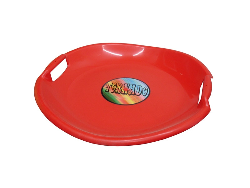 zima-talíř Tornado červený
