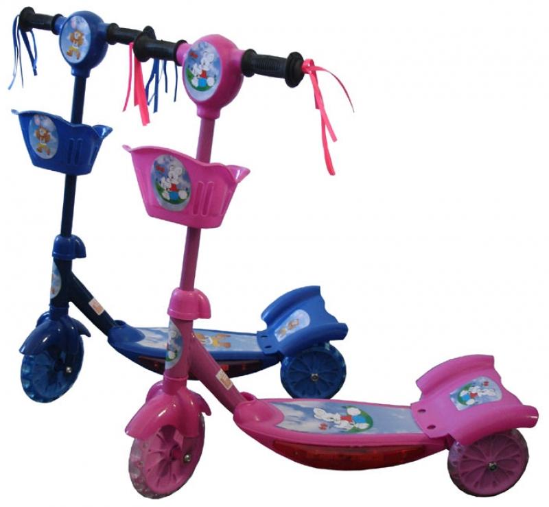 Jk  koloběžka ACRA Dětská 3 kolečka růžová