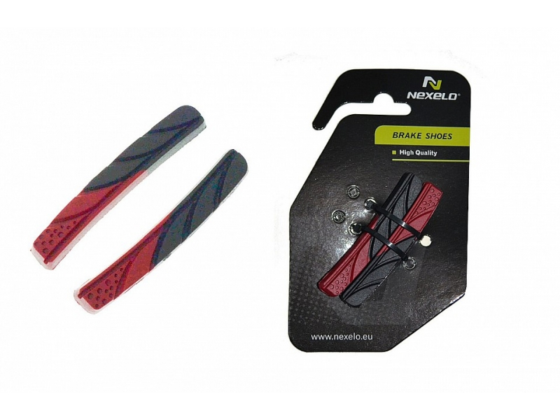brzdové špalíky NEXELO-náhr.botky 2-barevné