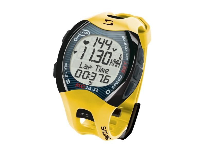 cc SIGMA pulsmetr běžecký RC 14.11 žluto-šedý