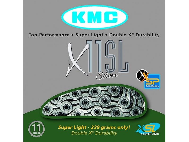 řetěz KMC X-11 SL BOX 11 kolo stříbrný