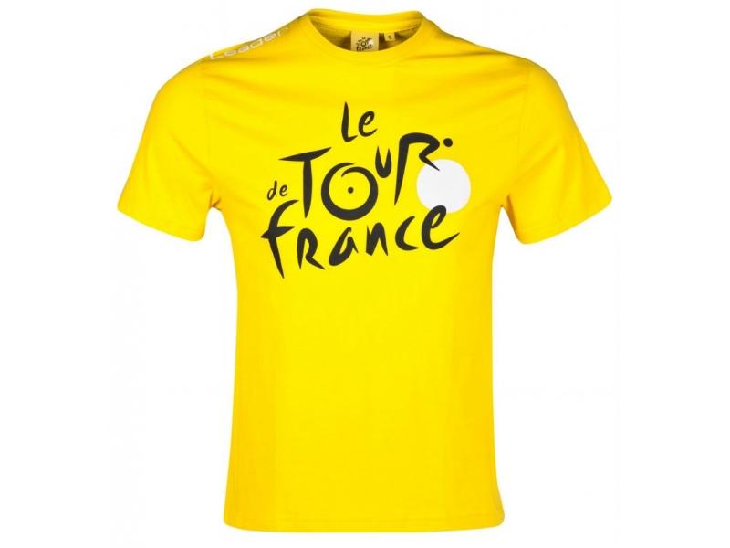 TdF Triko P graphic - žluté, logo XXL