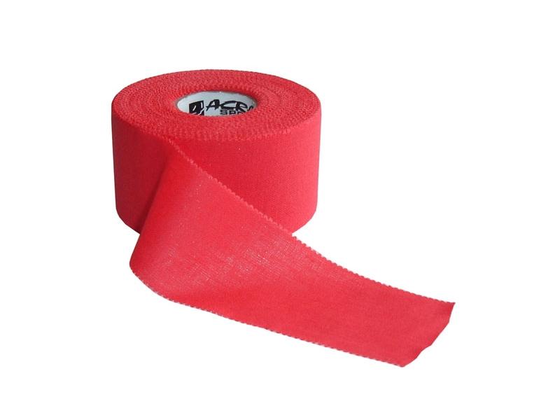 páska tejp.pevná červená 3.8cm x 13.7m