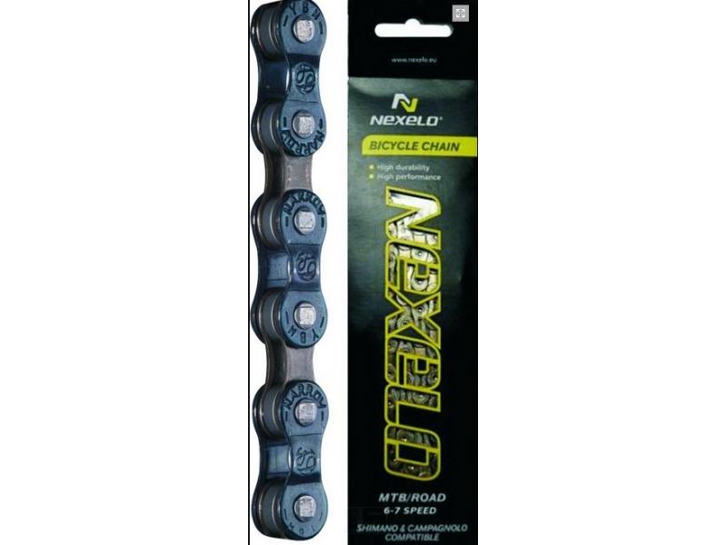 řetěz NEXELO 6-7 rychl, tmave hnedy,BOX
