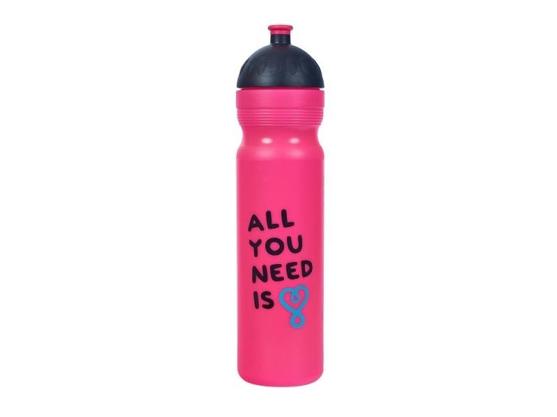 láhev 1.0l RaB UAX ALL YOU NEED Zdravá lahev růžová