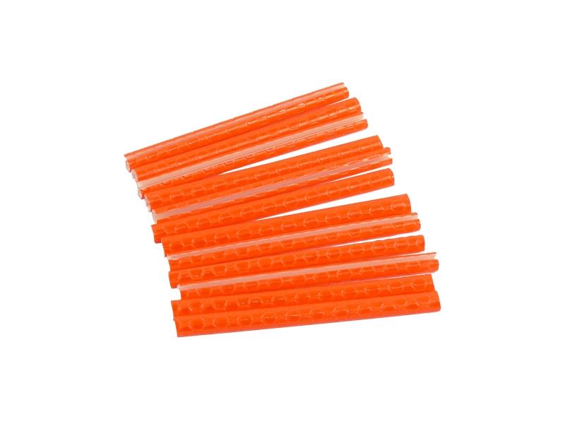 světlo - trubička reflexní - 12ks,oranžová