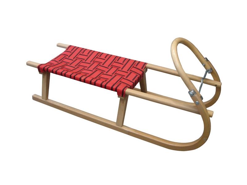 zima-saně dřevěné LAVINA červené, 110 cm