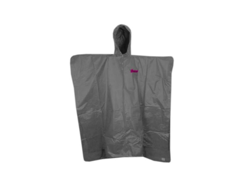 pláštěnka HAVEN II Poncho graphite šedo-růžová S
