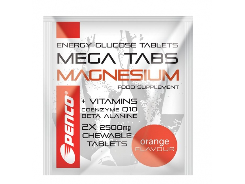 výživa - PENCO MEGA TABS MAGNESIUM 2 tablety, pomeranč