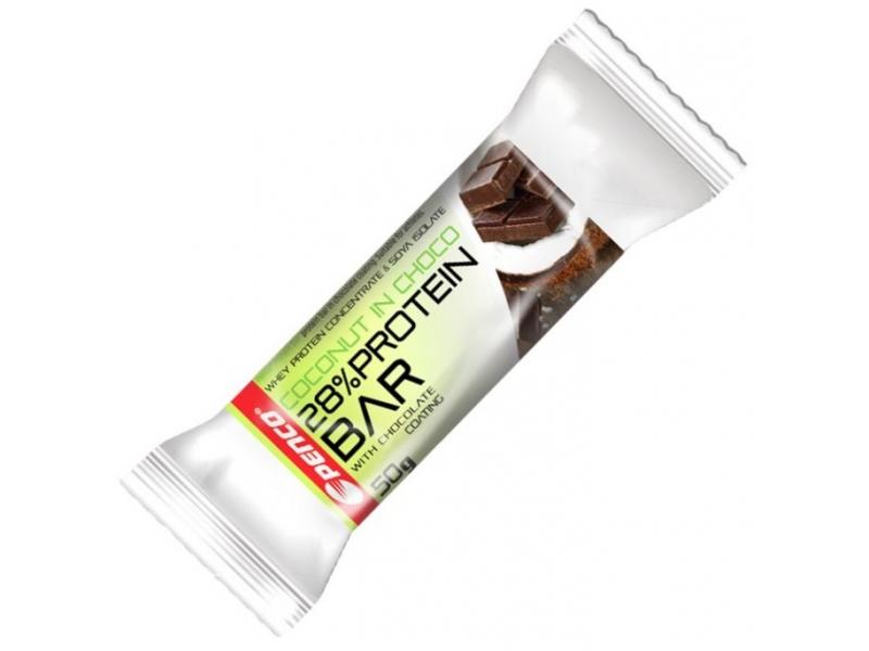 výživa - PENCO tyčinka PROTEIN BAR 50g,kokos v čokoládě