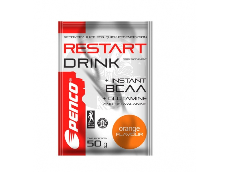 výživa - PENCO RESTART DRINK s BCAA,50g, pomeranč