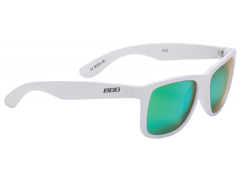 brýle BBB BSG-46 Street mat.bílé/MLC zelená skla