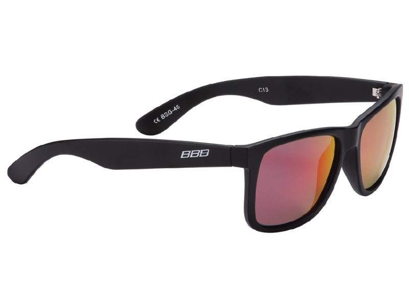 brýle BBB BSG-46 Street mat.černé/MLC červená skla
