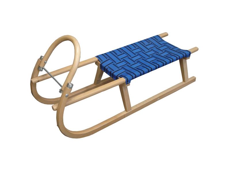 zima-saně dřevěné LAVINA modré, 110 cm