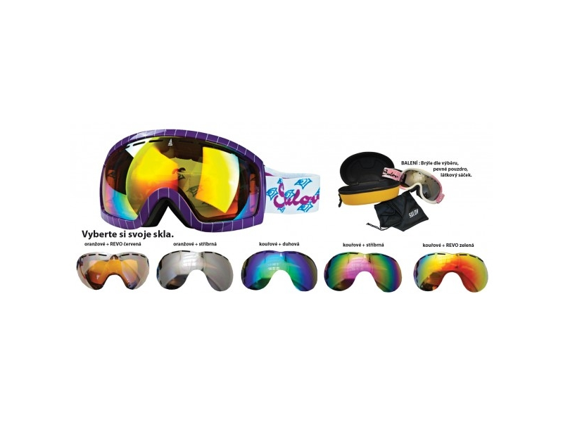 brýle lyžařské SULOV HORNET, dvojsklo, fialové
