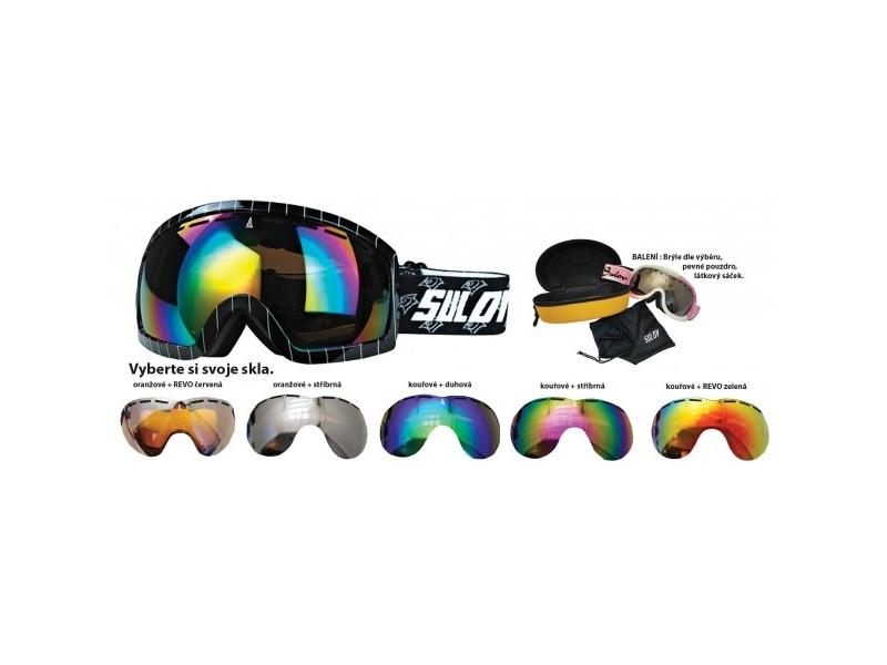 brýle lyžařské SULOV HORNET, dvojsklo, černé