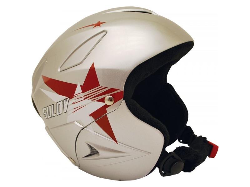 přilba lyžařská SULOV RANGER, stříbrná lesk-hvězdy S