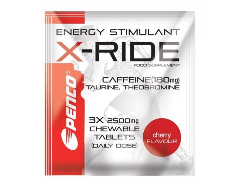 výživa - PENCO X-RIDE 3 tablety, stimulant, třešeň