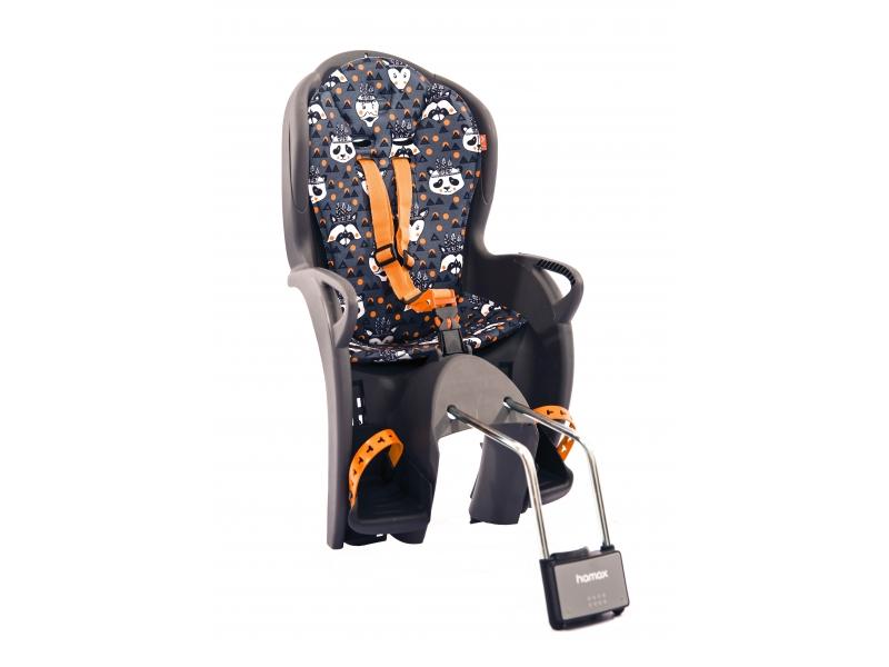 sedačka Hamax KISS samonosná, pevná, šedo-oranžová