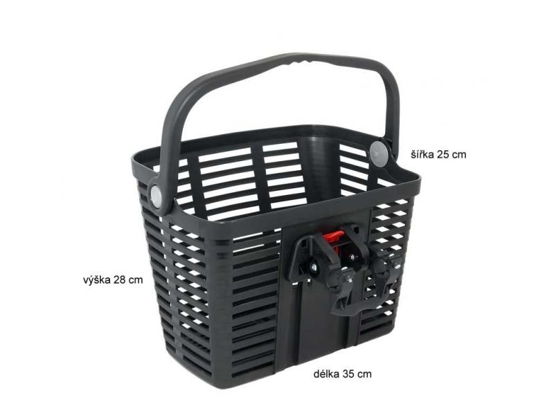 košík P na řidítka plastový černý KLICK FIX