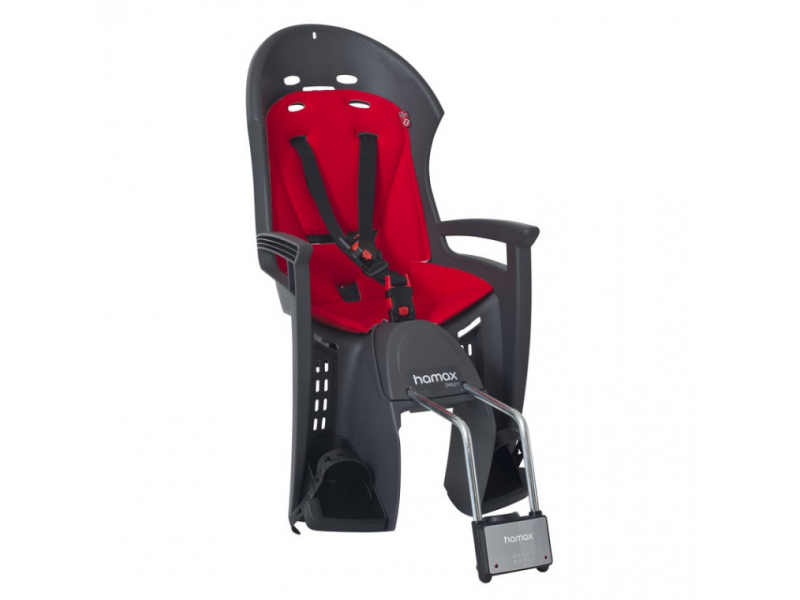 sedačka Hamax SMILEY samonosná, pevná, šedo-červená