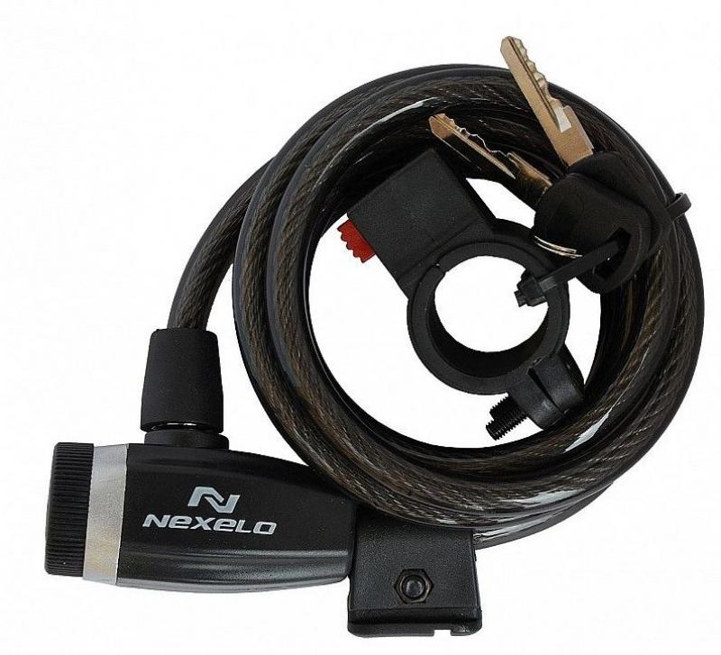 zámek NEXELO spirála 10x1800 klíč