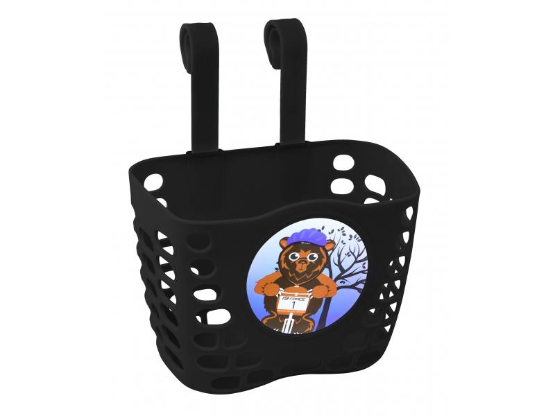 košík P na řidítka dětský plast černý