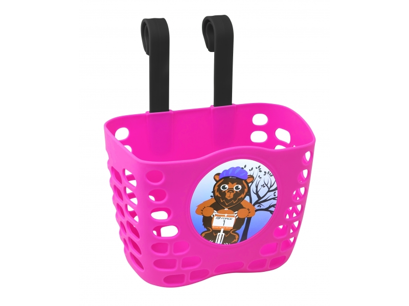 košík P na řidítka dětský plast růžový