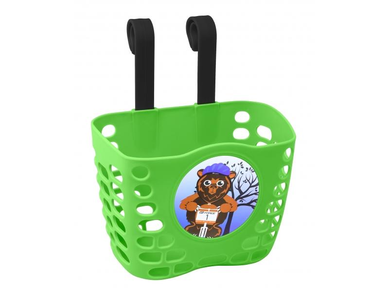 košík P na řidítka dětský plast zelený