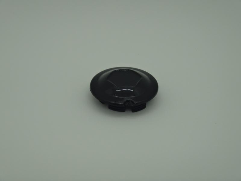 kliky - krytka plastová nacvakávací, černá plochá