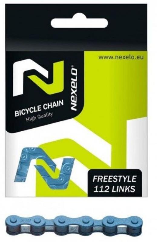 řetěz NEXELO 1-rychlostní modrý BOX