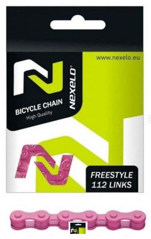 řetěz NEXELO 1-rychlostní růžový BOX