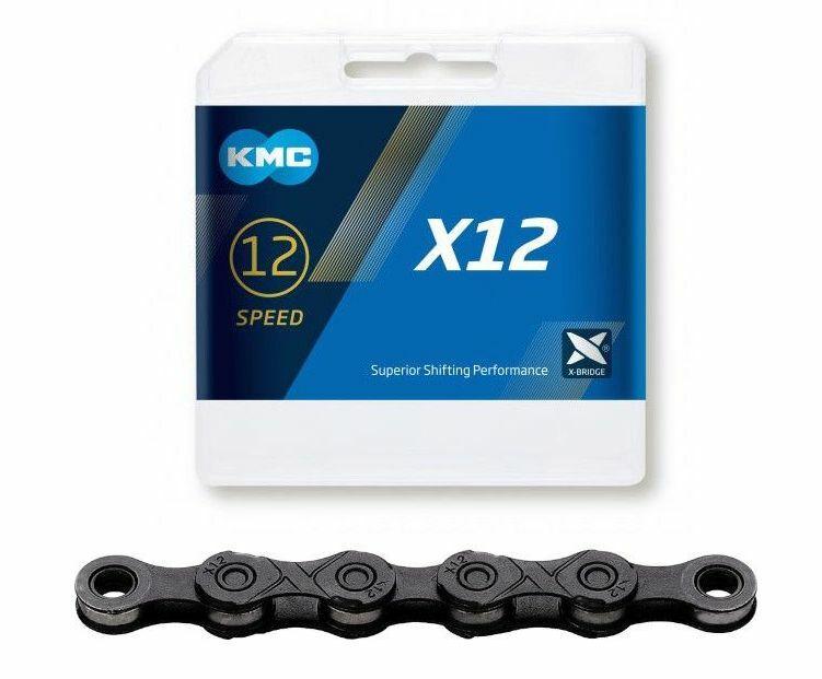 řetěz KMC X12 černý, 12sp., 126čl.